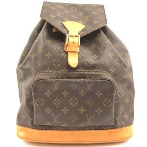 Montsouris Gm Large Brown Monogram Canvas Backpack